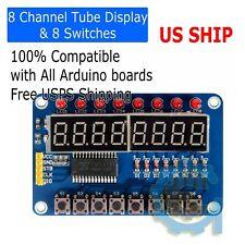 8-Bit LED Digital Tube Display 8 Switches TM1638 Display module for AVR Arduino