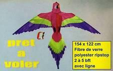 Cerf volant original perroquet 154 x 122 cm jeux de plage pas cher achat Neuf