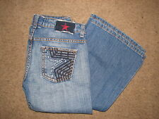 People's Liberation Bella Embellished Rhinestone studded jeans sz.26~ADORABLE~