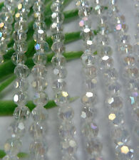 Wholesale 1000pcs AB clear Round Faceted glass crystal loose spacers bead 4mm