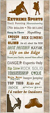 Art Whse EXTREME SPORTS Cardstock Stickers scrapbooking OUTDOOR DANGER