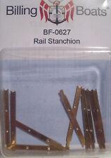 Billing BOATS Accessorio bf-0627 - 10 x 28mm OTTONE PIATTO CORRIMANO Stanchions NUOVO