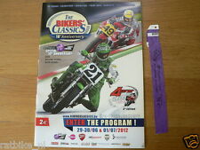 B 2012 THE BIKERS CLASSICS SPA-FRANCORCHAMPS PROGRAMME AND TICKET