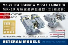 Veteran Models 1/350 MK-29 Sea Sparrow Missile Launcher (4pcs,2 types missiles)