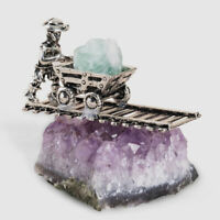 Natural Amethyst Quartz Geode Druzy Crystal Cluster Specimen Decor Gift Human