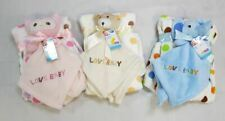 First Steps Soft Fleece Comfort Blanket and Blue Jumbo Elephant Toy
