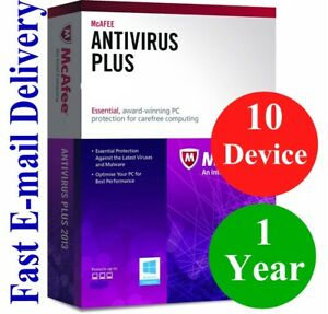 McAfee Antivirus 10 DEVICE 1 YEAR GLOBAL KEY 2020 EMAIL ONLY NO CD!!!