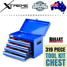 BULLET DIY Metric Toolbox Mechanic 319 Piece Tool Kit Chest Tool Box Set Blue