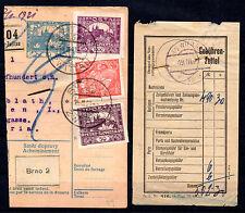 CZECHOSLOVAKIA  1921, 1000H  , RR  , ZVITTAU - WIEN  / AUSTRIA  /