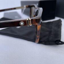 Hombres de gafas Sol Montblanc MB 654s 01n negro rectangular cuadrado verde 56