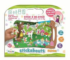 Fairies Stickabouts Play Set - 34 Stick Anywhere Stickers + Play Board
