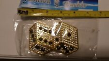 Men Women Metal Fashion Belt Buckle Rhinestone Dice