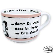 Sheepworld XXL Kaffeebecher DENKE Tasse Kaffeetasse Liebe Valentinstag Kaffee