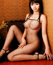 Womens Erotic Lingerie Sexy Bodystocking Fishnet Crotchless Role Play M New))))