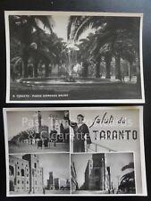 Italy: 2 x Taranto PC, Saluti da TARANTO & Piazza Giordano Bruno, Old RP