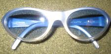 90s Arnette FALCON Swinger SKI Sunglasses PALE ICE BLUE WRAP LOGO new def ITALY