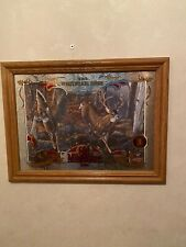 old milwaukee wildlife whitetail deer beer mirror in exc con