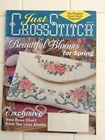 JUST CROSS STITCH MAGAZINE, MARCH/APRIL 1997, SPRING BLOSSOMS