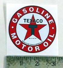 "Vintage Texaco Gasoline Motor Oil sticker decal 3"" dia"