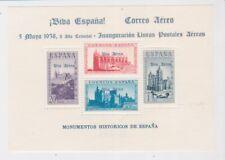 Spain Stamps 1938 Mini Sheet Viva Espana Correo Aereo Ovpt Postal History