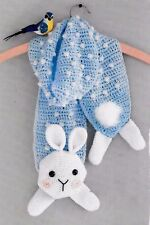 MOLLY THE BUNNY CHILD'S  ANIMAL SCARF - CROCHET PATTERN