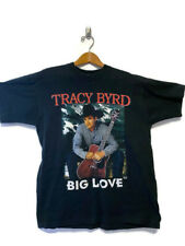 VTG Tracy Byrd Big Love Tour Double Sided Graphic Tee Black Sz XL Single Stitch