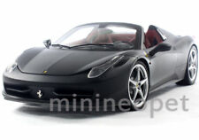 HOT WHEELS ELITE X5485 FERRARI 458 ITALIA SPIDER 1/18 DIECAST FLAT BLACK