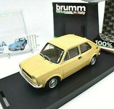 MODELLINO AUTO SCALA 1/43 FIAT 127 BRUMM GIALLO diecast MODELLISMO STATICO EPOCA