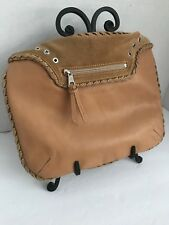Kate Moss For Longchamp Handbag Camel Color Leather with Suede Trim