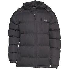 Mens Trespass Clip Padded Waterproof Windproof Jacket Black Large