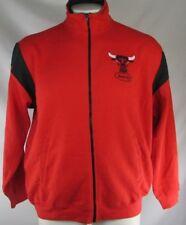 Chicago Bulls Men's Full-Zip Red Track Jacket NBA Hardwood Classics by Majestic