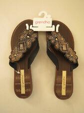 Grendha Ladies Sandal Thong Flat Sandals  Size US 7 - EUR 38  BRA 36