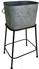 Galvanized Wash Tub with Stand, Ice bucket, Planter Water Tight Seal 5068