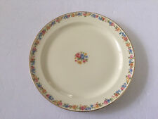 "Taylor Smith & Taylor China TST327 Floral Rim Gold - 9-1/4"" LUNCHEON PLATE"
