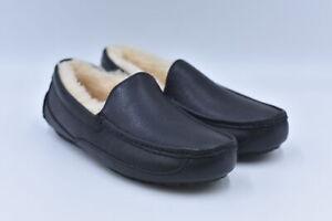 Men's Ugg Ascot Slip On Moccassin Slippers, Black, 7M