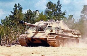WW2 Picture Photo German Tank Jagdpanther in action 3117