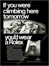 Rolex Explorer watch Mt. Everest photo classic 1960s ad new poster 18x24