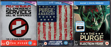 THE PURGE, ANARCHY, ELECTION YEAR BLU-RAY STEELBOOK SET NEU & OVP DEUTSCHER TON