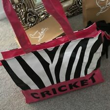 Cricket Reuseable Shopper Tote Bag Rare Pink Zebra Used