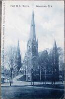 Jamestown, NY 1910 Postcard: First Methodist Episcopal Church - New York