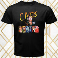 CATS Broadway Musical Theater Show Logo Men's Black T-Shirt Size S - 3XL