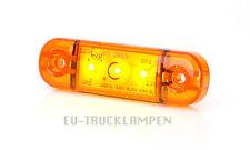LED UMRISSLEUCHTE 83,8x24 mm GELB 3 LED - UNI FÜR 12+24 VOLT SUPER FLACHE 10,4mm