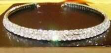 STUNNING 2 ROW DIAMANTE CHOKER FOR BRIDAL PROM PARTY