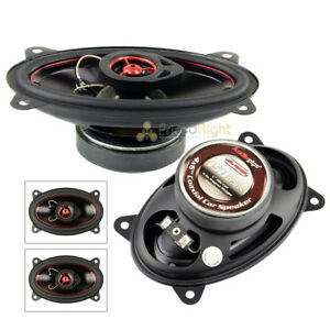 Set 2 Audiopipe 150W 4x6 Coaxial Speakers Pair CSL-4602R Rubber Edge