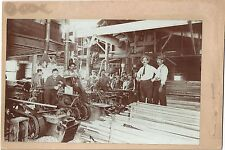 6 Cabinet Photos of Clark & Co Lumber Mill- Exterior & Interior Images c1900