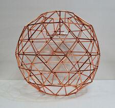 Copper Wire Cage Pendant Light Shade