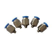 5 Pcs Pneumatic Push In Air Fitting Straight Male Connector 4mm