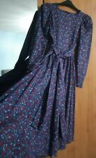 Laura Ashley Vintage Floral Full Circle Prairie Dress With Belt Size 14