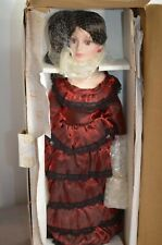 Nib Heritage Signature Collection Porcelain Doll w/ 3 Extra Outfits