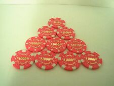$1000 novelty Las Vegas Casino Gambling Chip Craps Black Jack Poker lot 10